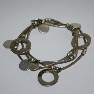 Beautiful silver charm bracelet.